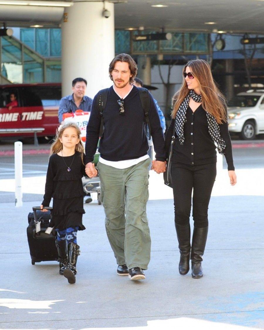 Christian Bale con la famiglia