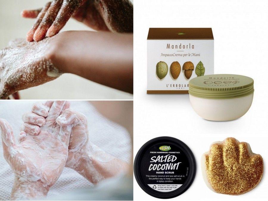 Impacco Ultra Nutriente di L'erbolario, Scrub Salted Coconut di Lush e maschera calda Golden Handshake di Lush