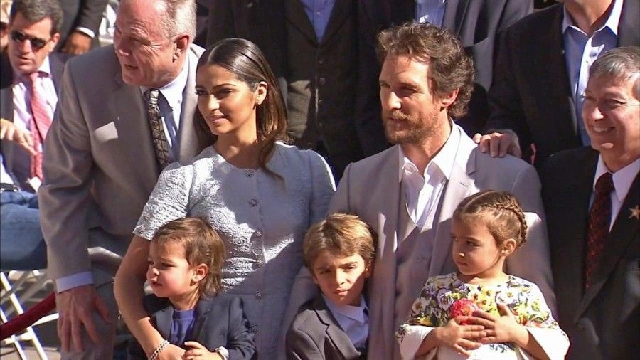 Matthew Mc Conaughey e famiglia