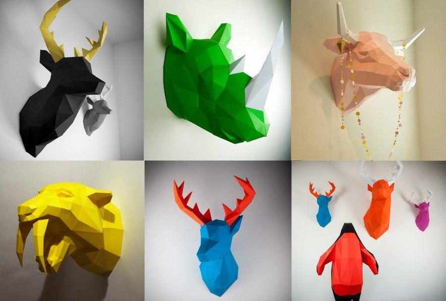 Papertrophy-Deer-blue