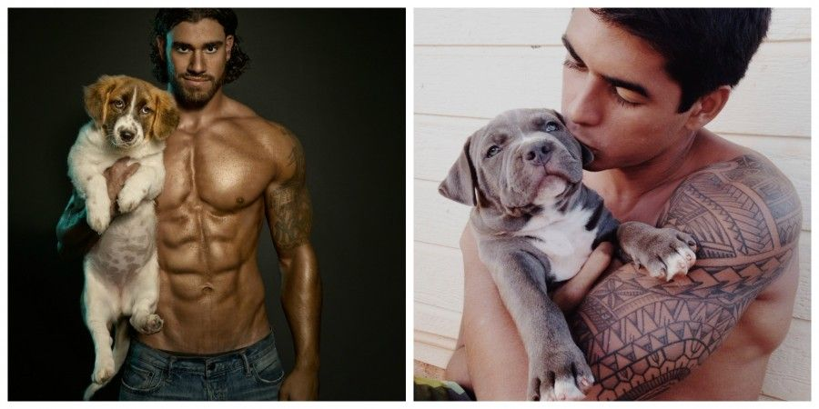 hot-dudes-in-beds-whit-dogs