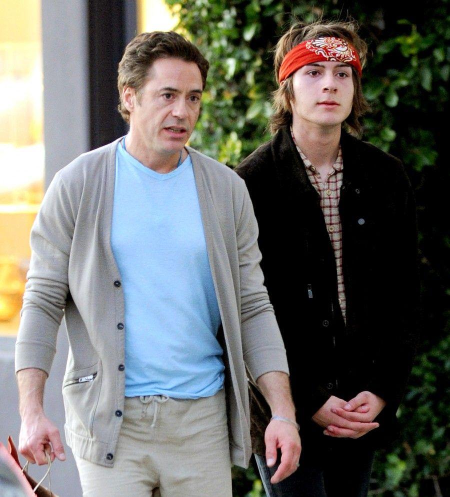 Robert Downey e il figlio Indio