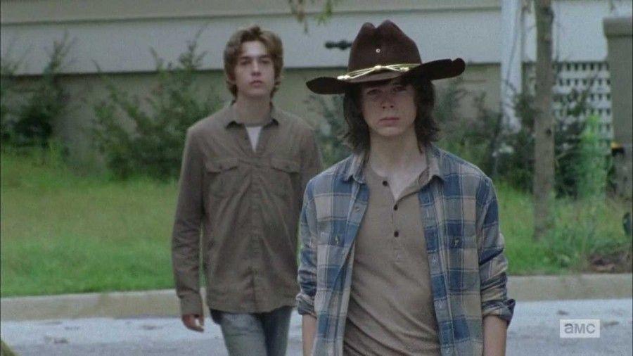 Rod e Carl in The walking dead