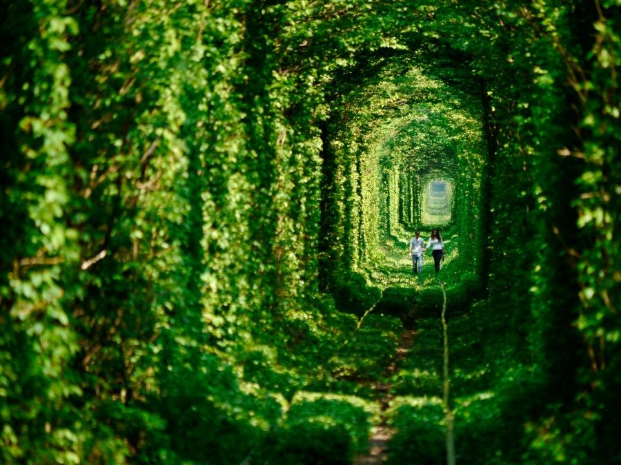 Tunnel of love in Ucraina