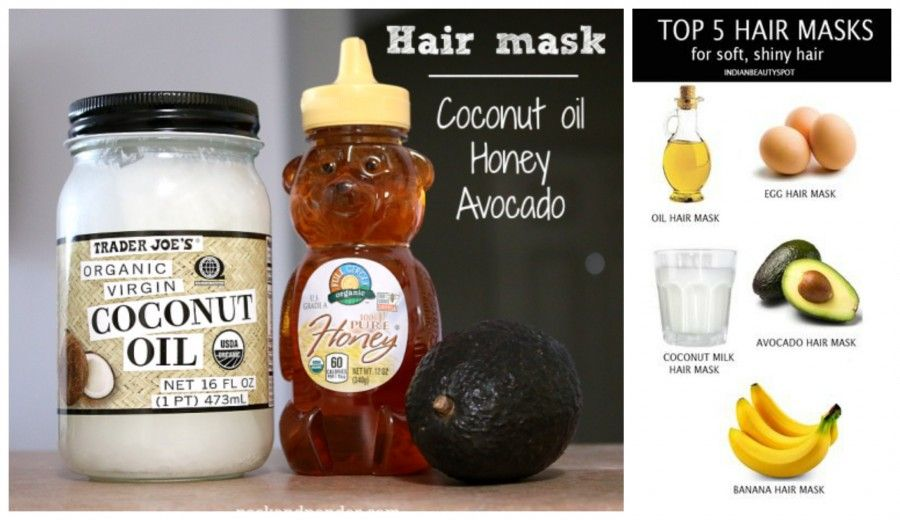hair mask Collage