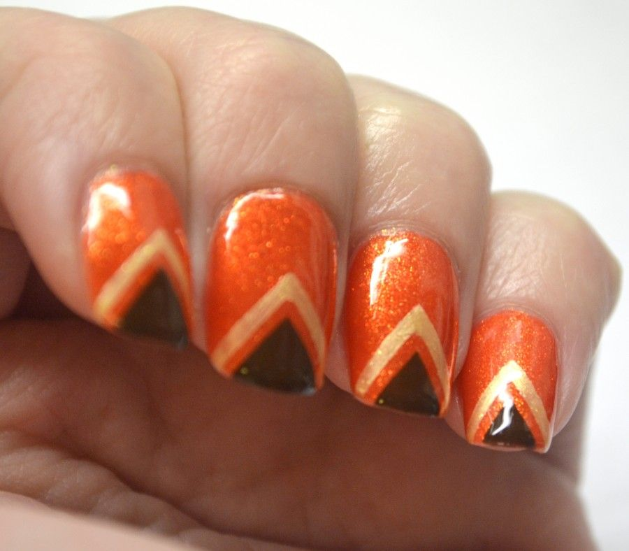 nail-art-autunno-arancione