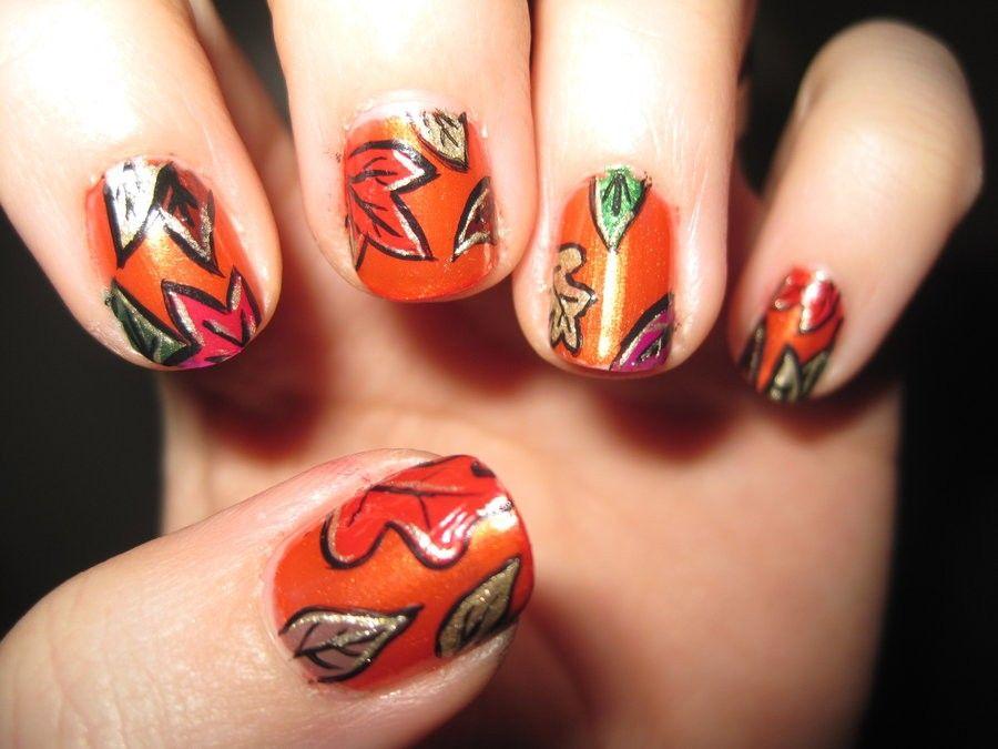 nail-art-autunno-foglie