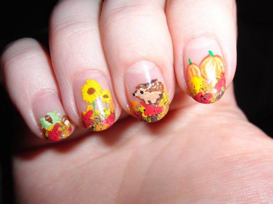 nail-art-autunno-zucca