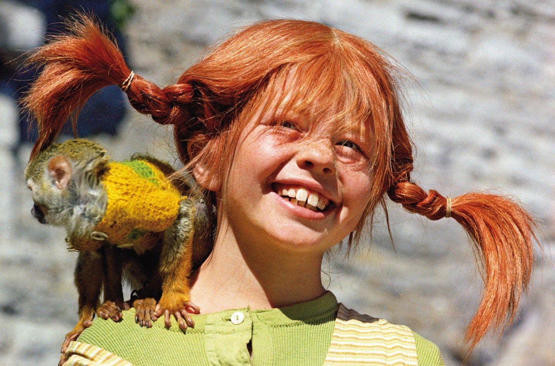 pippi-calzelunghe con la sua scimmietta