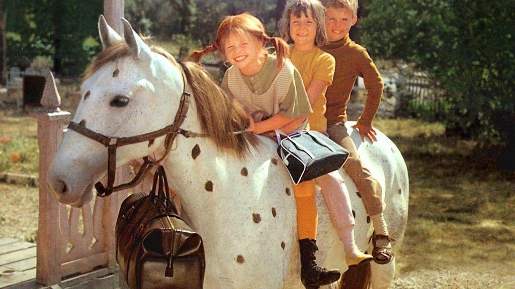 Pippi Calzelunghe con gli altri protagonisti della serie
