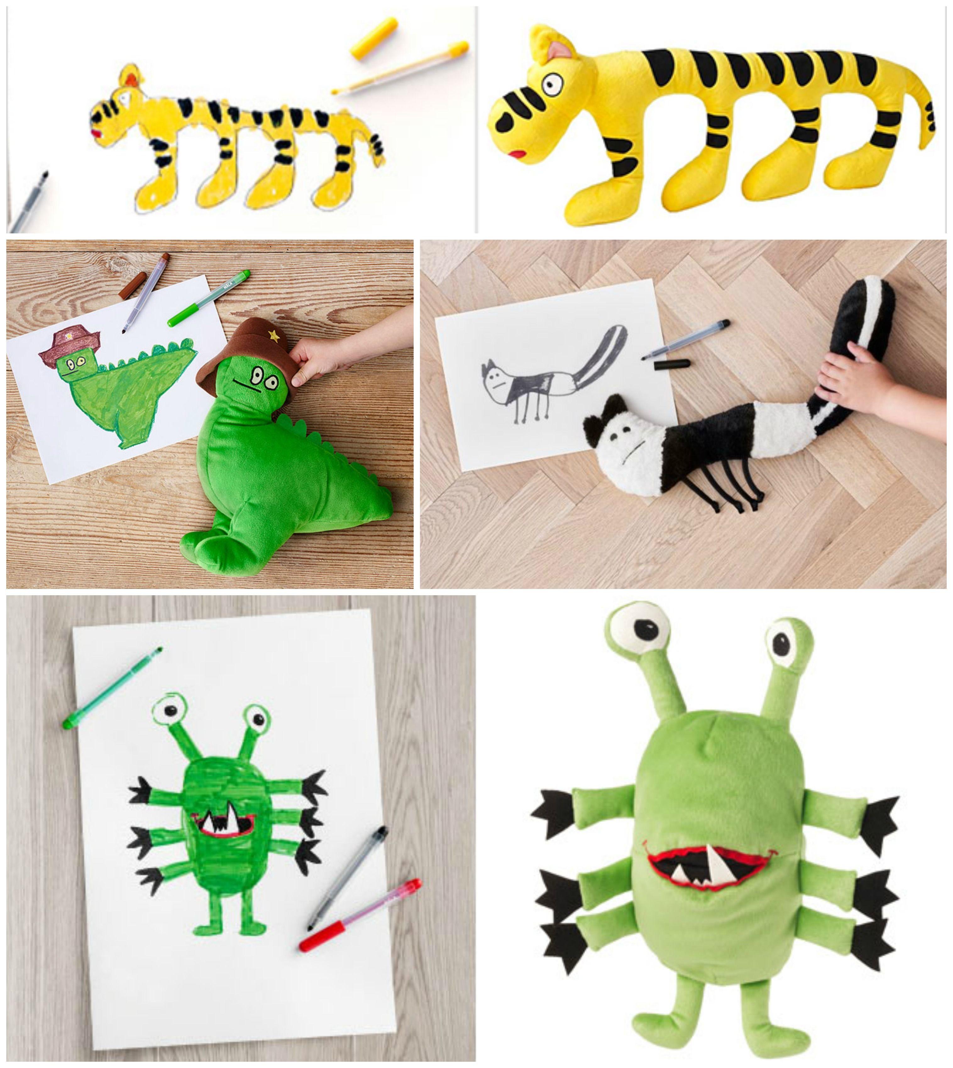 ikea lancia una collezione di peluche disegnati dai bambini bigodino. Black Bedroom Furniture Sets. Home Design Ideas