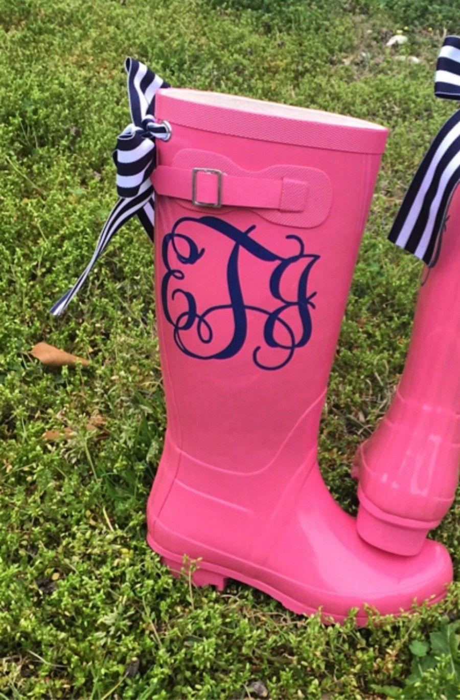 stivali di gomma con fiocchi