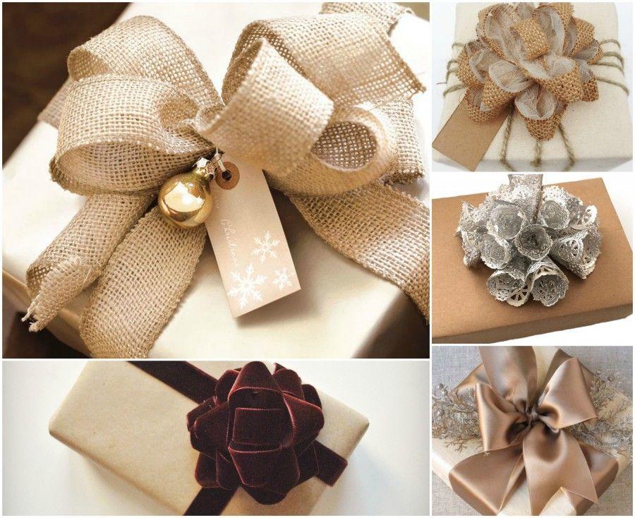 Fare fiocchi per pacchi regalo ep34 regardsdefemmes - Nastri decorativi natalizi ...