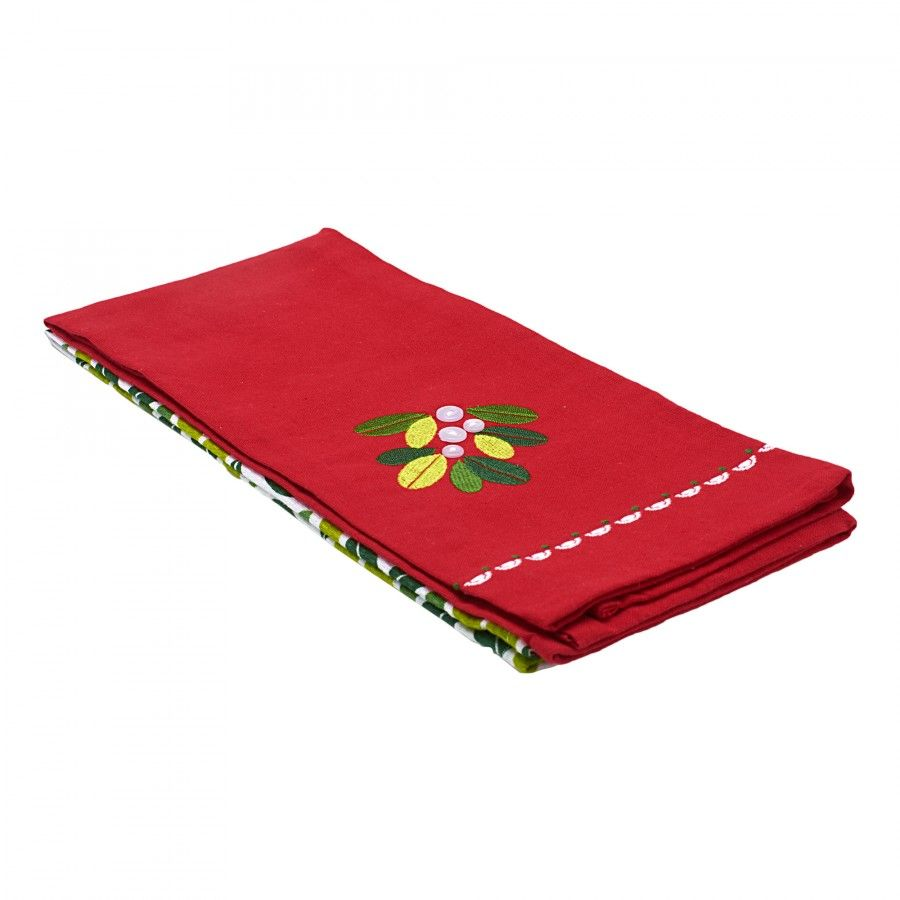 106132050-Set of 2 Mistletoe Christmas Kitchen Towels-1