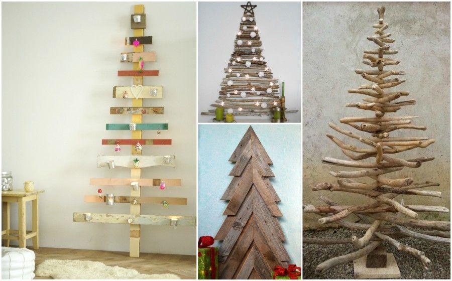 Alberi Di Natale In Legno Da Parete : Diy: alberi di natale creativi ed economici bigodino