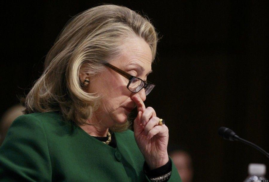 ...e se succede pure alla Hillary di commuoversi...