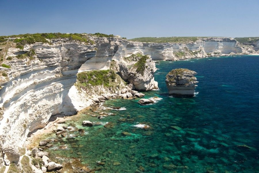 Le calanche bianche in Corsica