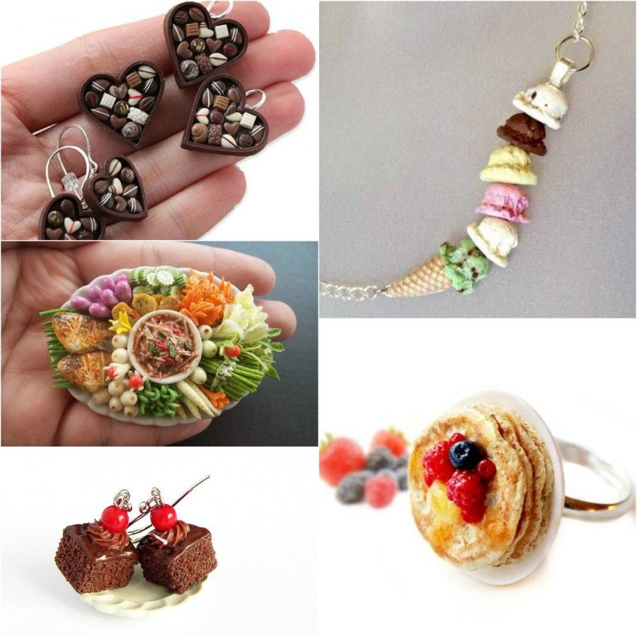 Miniature cibo per bijoux