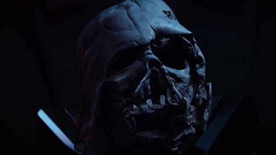 Il casco di Darth Vader in Star Wars-il Risveglio della Forza