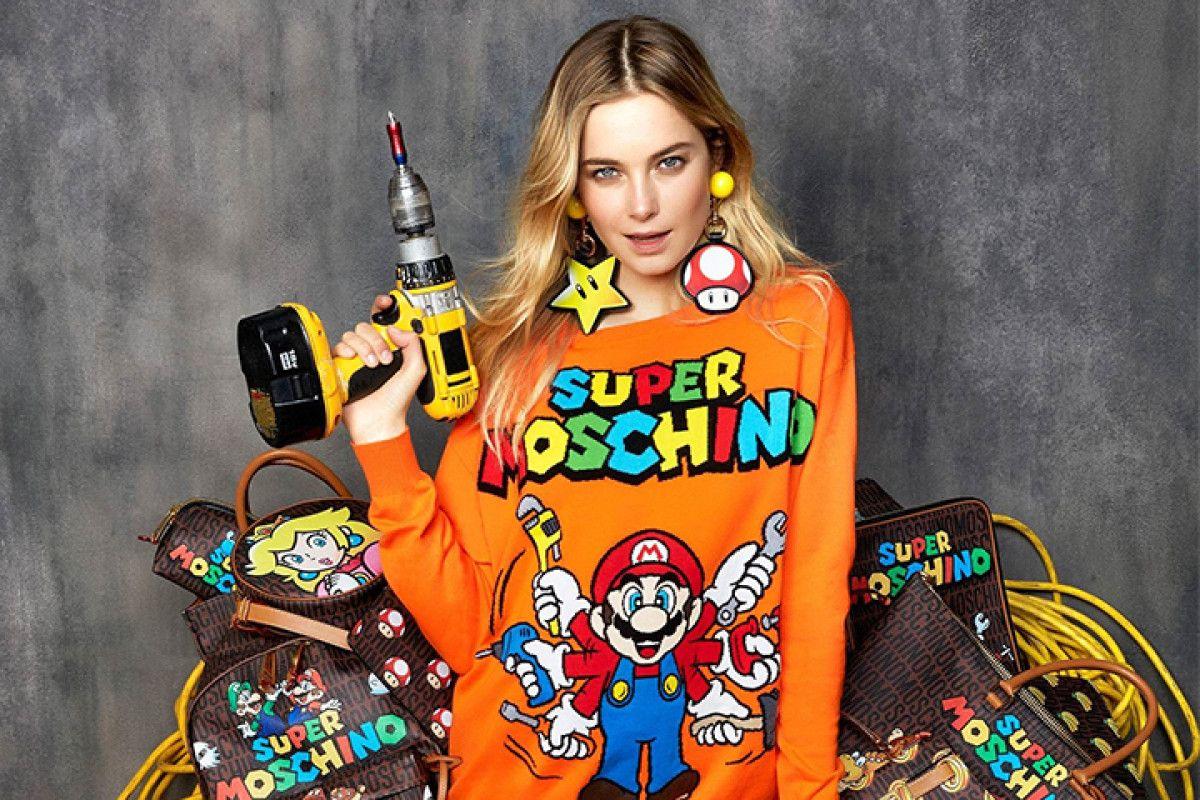 Moschino lancia la nuova capsule collection dedicata a Super Mario Bros
