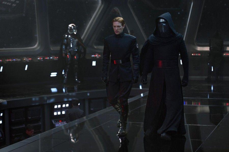 Kylo Ren in Harrison Ford in Star Wars-il Risveglio della Forza