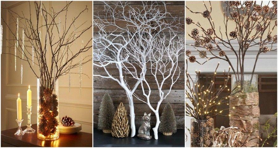 Come decorare casa per il natale con idee green bigodino - Decorazioni rami secchi ...