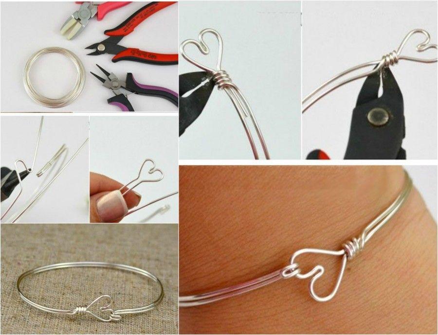 Bracciale creato con un filo di metallo