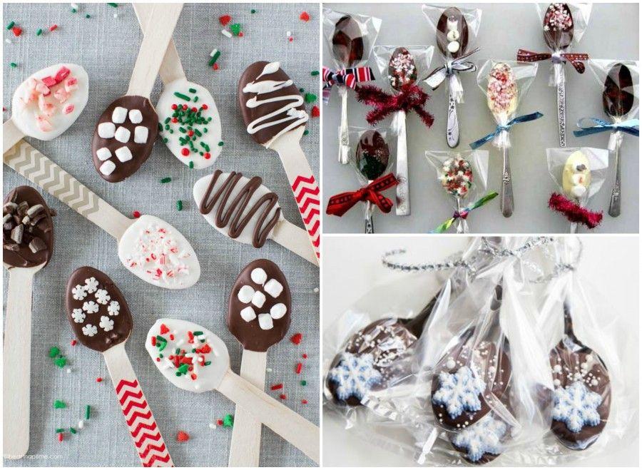 Cucchiai con cioccolata