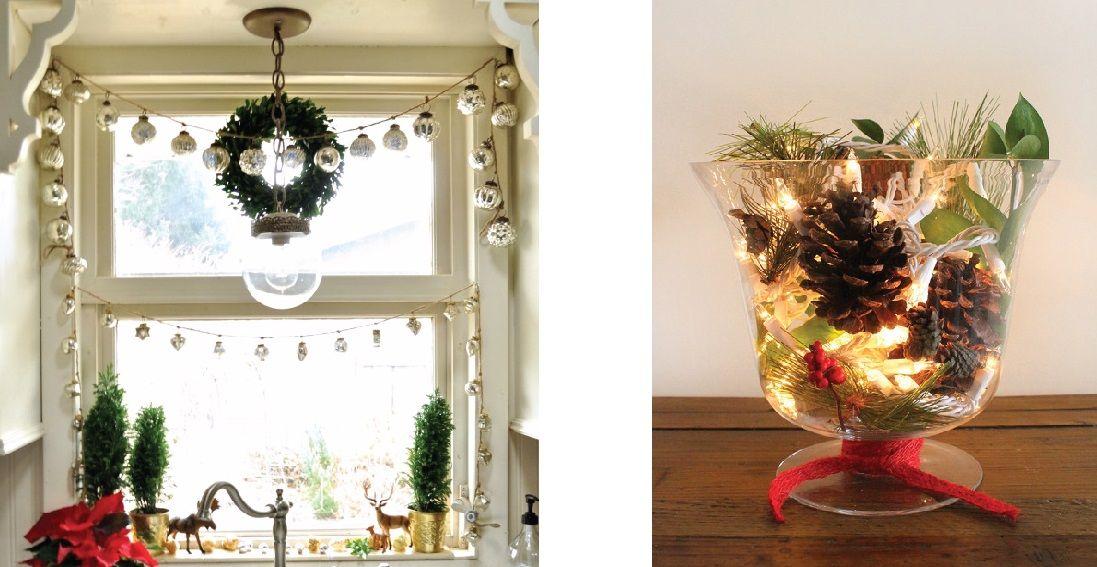 Le decorazioni di natale per spazi piccoli bigodino - Decorare le finestre per natale ...