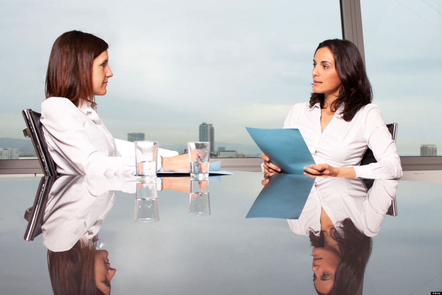 CEP8C4 Recruiter checking the candidate during job interview