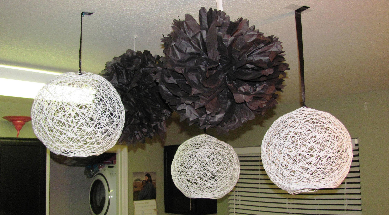 Lampadario Con Filo Di Lana : Come creare una lampada con un gomitolo di lana bigodino