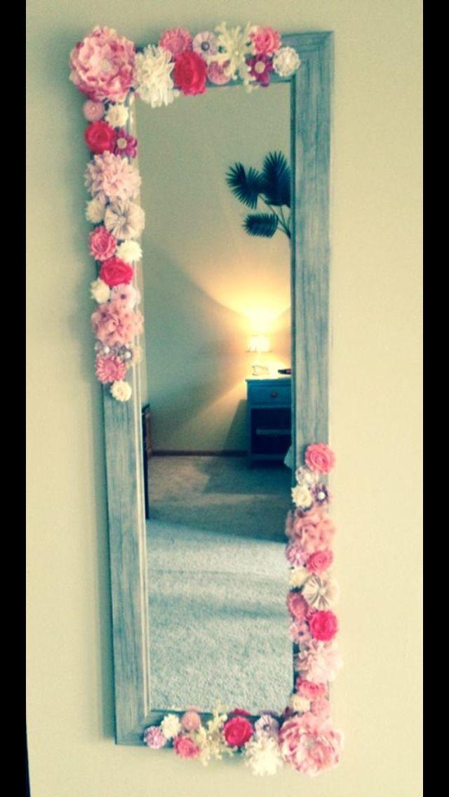 Specchio floreale DIY