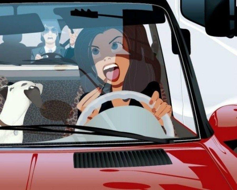 truccarsi in macchina