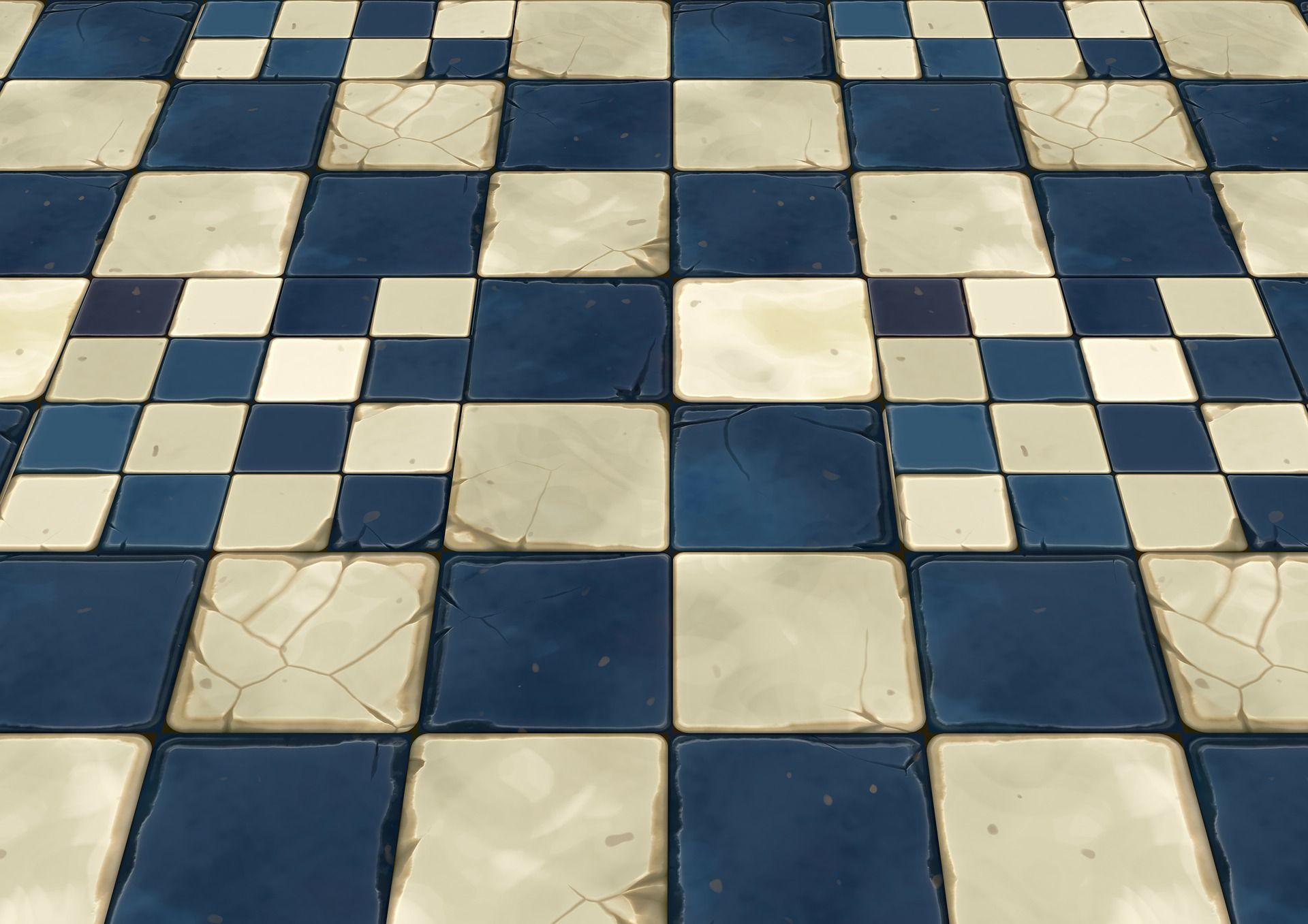 Texture esposta del pavimento di cemento con piastrelle di erba