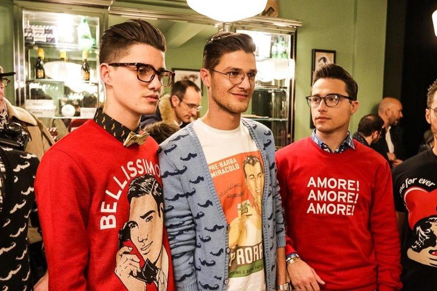La collezione di 10x10 ANITALIANTHEORY e Proraso presentata ieri sera a Firenze da Blues Barber (in foto a sinistra Filippo Bologni)