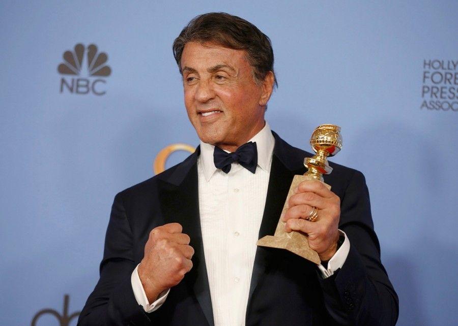 Sylvester Stallone ai Golden Globe 2016