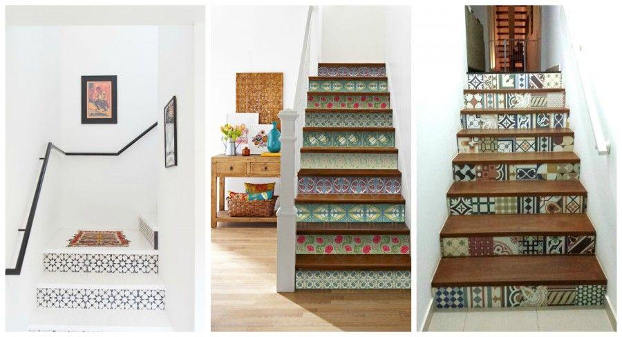 Idee per riciclare vecchie piastrelle bigodino - Mattonelle per scale ...