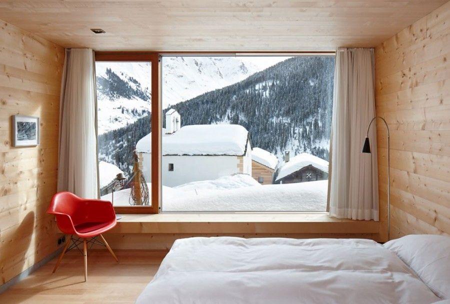 Case di montagna bellissime rifugi nella neve bigodino - Camera da letto montagna ...