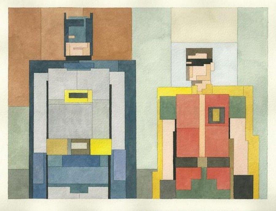Batman and Robin. Adam Lister
