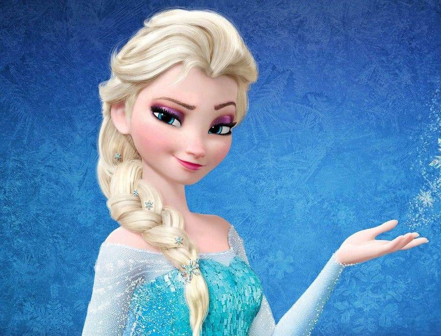 Elsa con il trucco