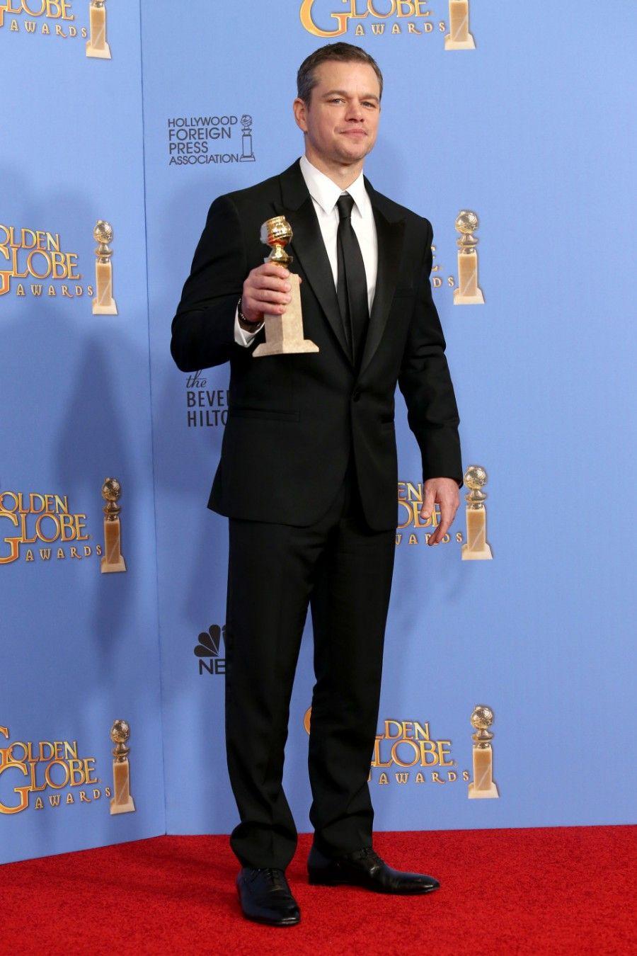 Matt Damon ai Golden Globe 2016