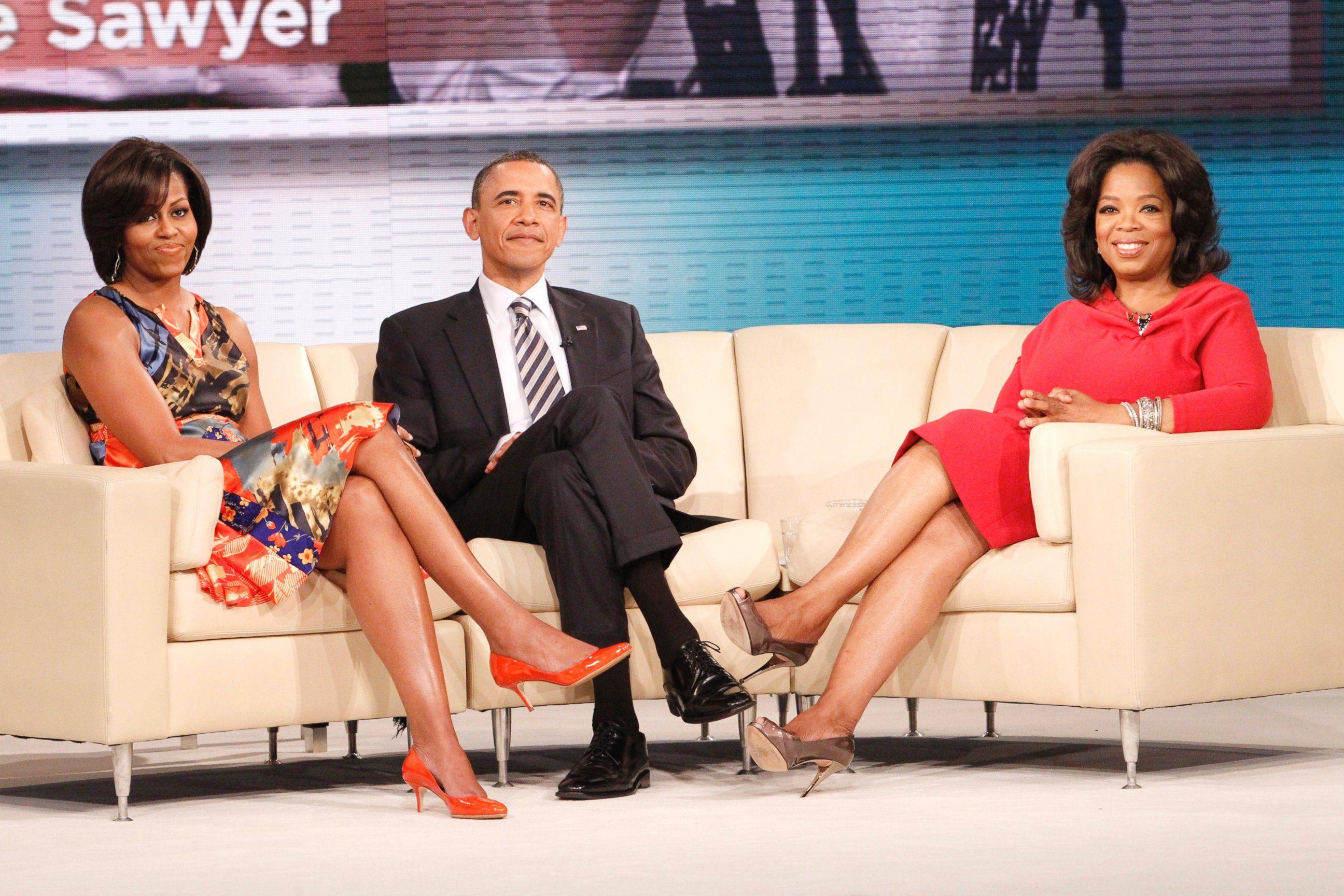 Oprah Winfrey con Barack e Michelle Obama