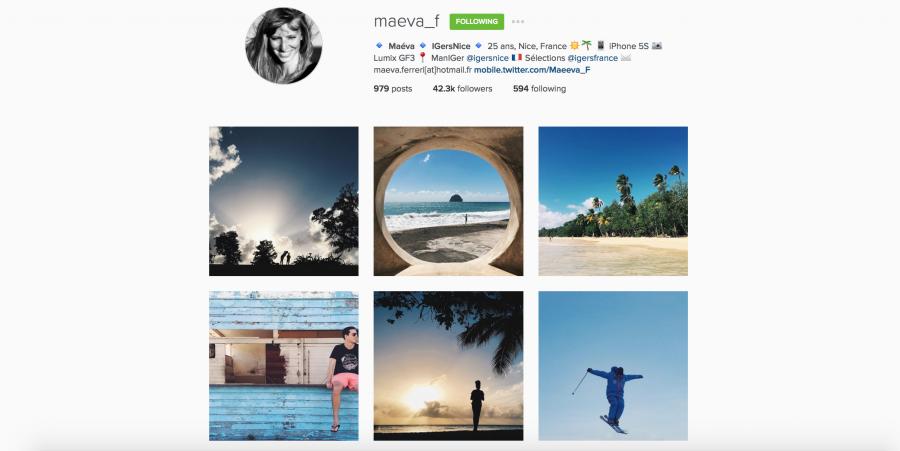 Maeva Ferrari su Instagram