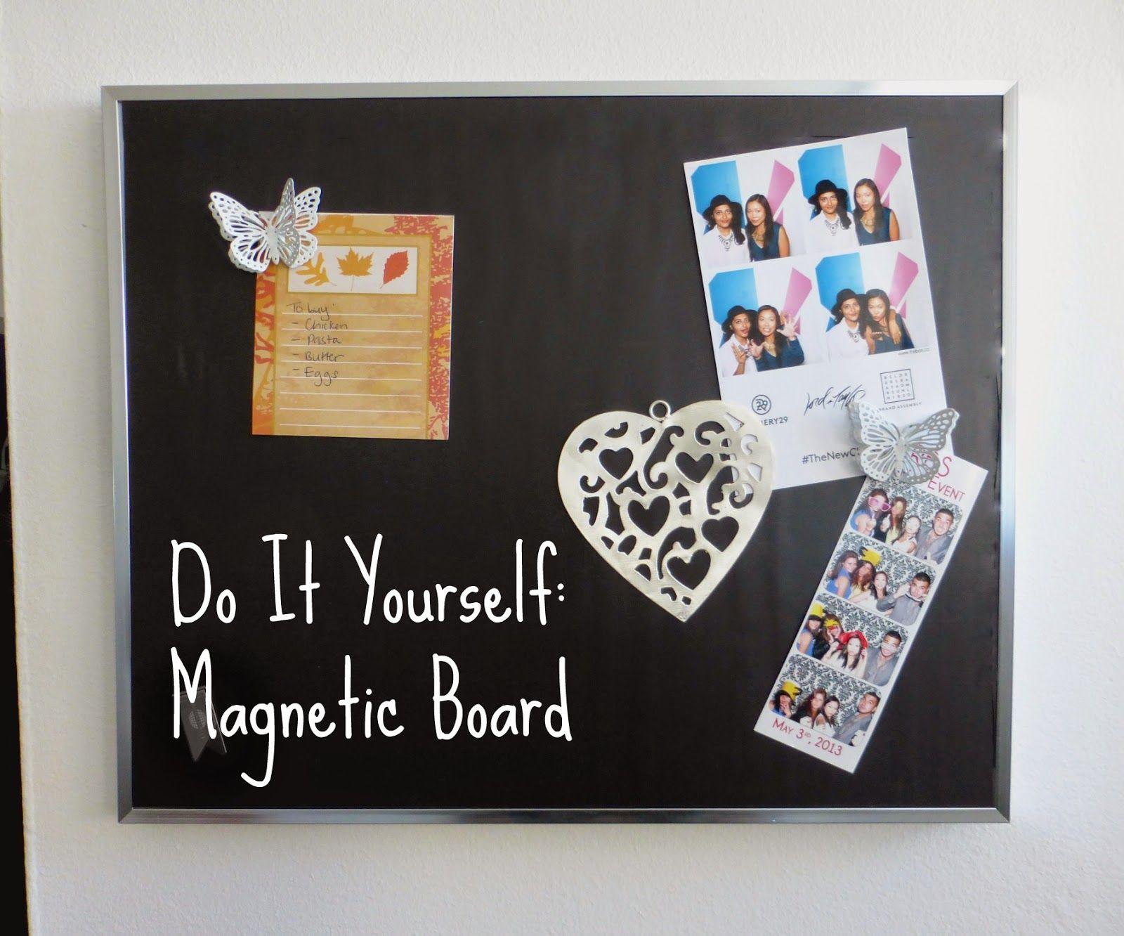 DIY: come realizzare una lavagna magnetica