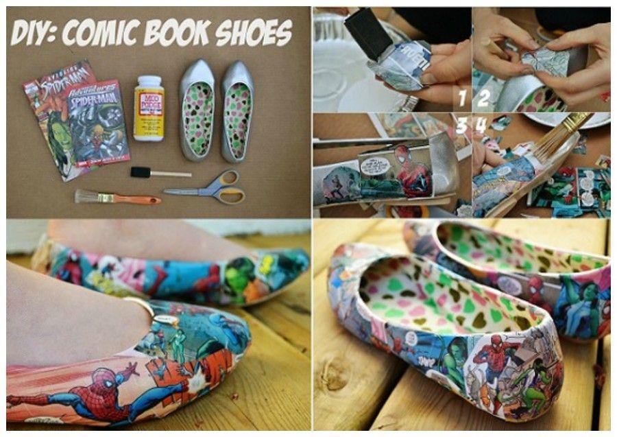 Come abbellire e decorare delle vecchie scarpe Bigodino