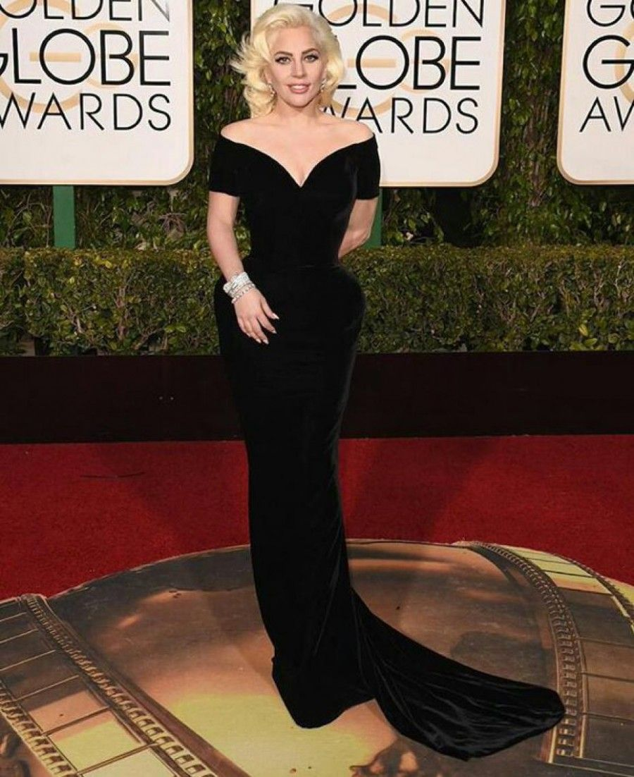 Lady Gaga ai Golden Globe 2016