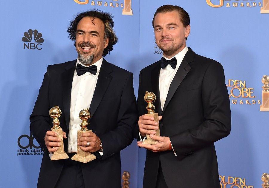 Alejandro Gonzalez Inarritu e Leonardo DiCaprio ai Golden Globe 2016