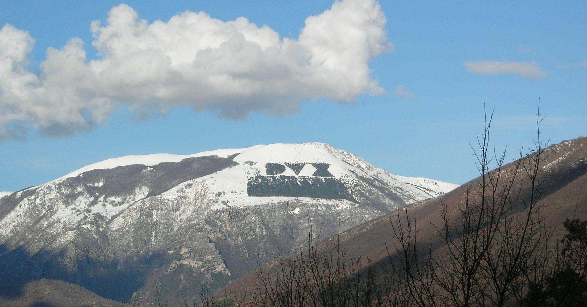 scritta-dux-monte-giano-roma