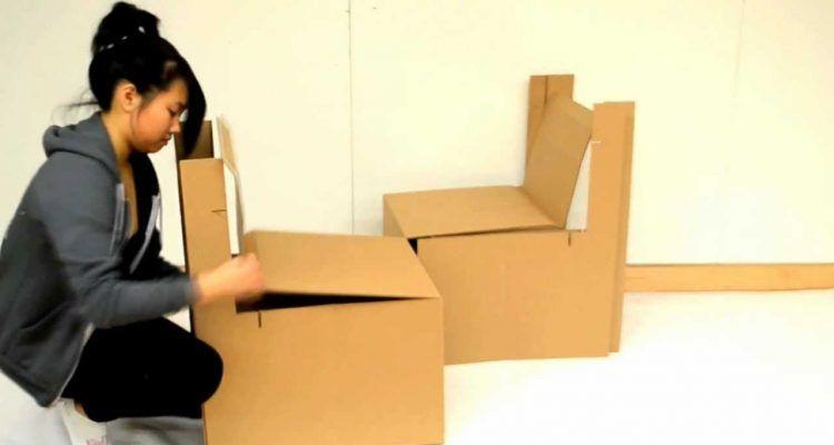 Come realizzare una sedia in cartone bigodino - Mobili in cartone pressato ...