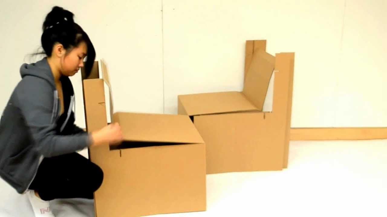Come realizzare una sedia in cartone bigodino